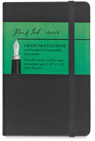 "Graph Sketchbook, 96 Sheets<br>3½"" × 5½"" Portrait"