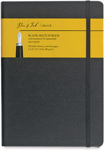 "Blank Sketchbook, 96 Sheets<br>5½"" × 8"" Portrait"