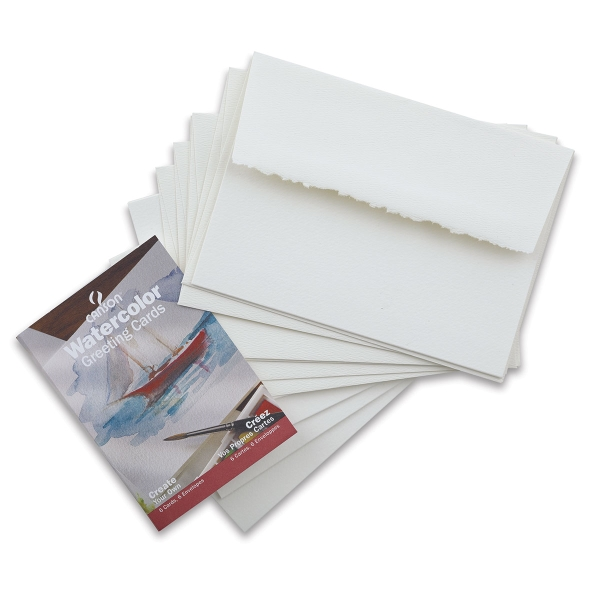 Watercolor Cards with Env, Pkg of 6