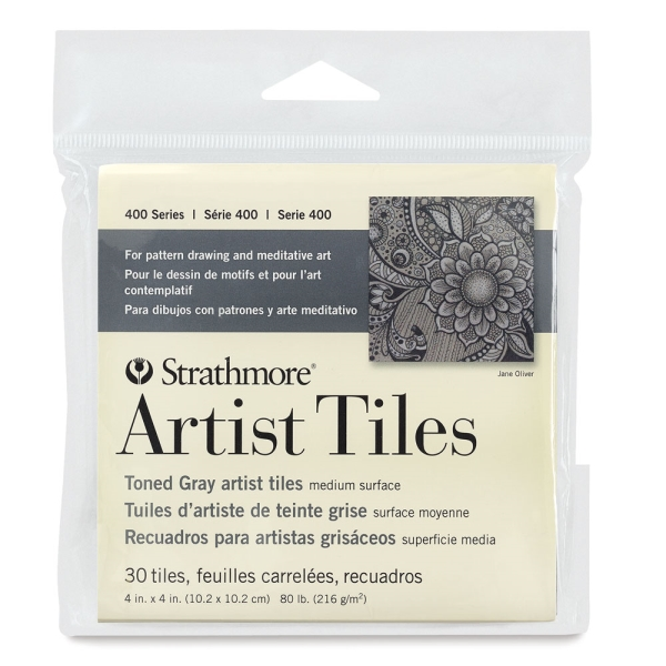 400 Series Toned Artist Tile, Gray