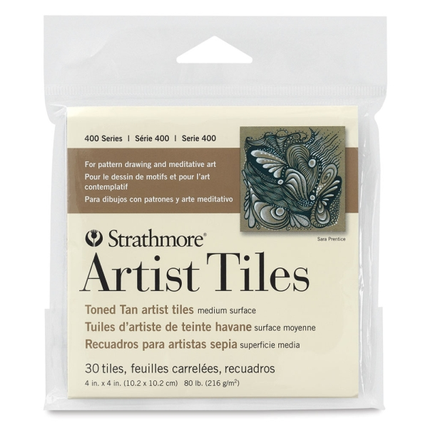 400 Series Toned Artist Tiles, Tan