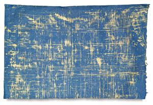 Gold Brush on Royal Blue Lokta