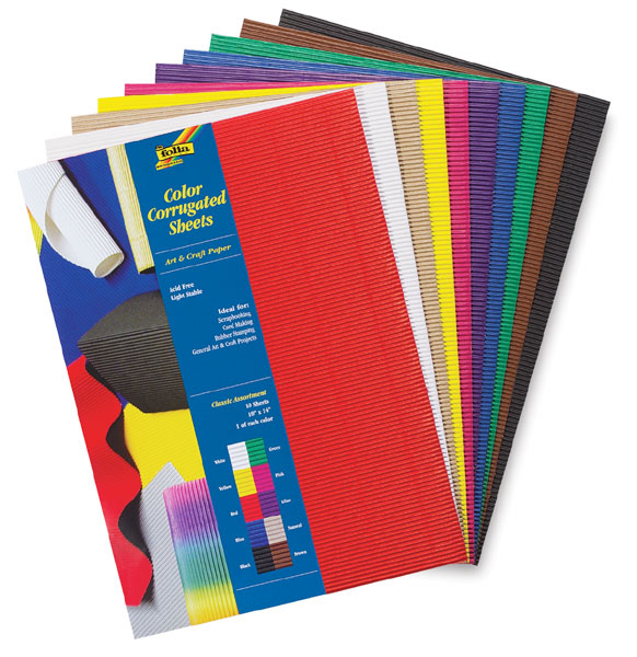 Folia Color Corrugated Paper - BLICK art materials