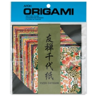 "Yuzen Chiyogami Paper, Pkg of 40 Sheets, 4"" × 4"""