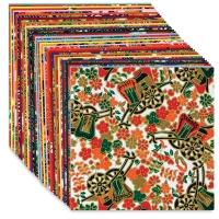 "Yuzen Chiyogami Paper, Pkg of 40 Sheets, 4"" × 4"""