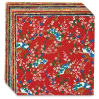 "Yuzen Chiyogami Paper, Pkg of 40 Sheets, 5-7/8"" × 5-7/8"""