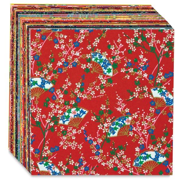 "Yuzen Chiyogami Paper, Pkg of 40 Sheets, 5-7/8"" × 5-7/8"""