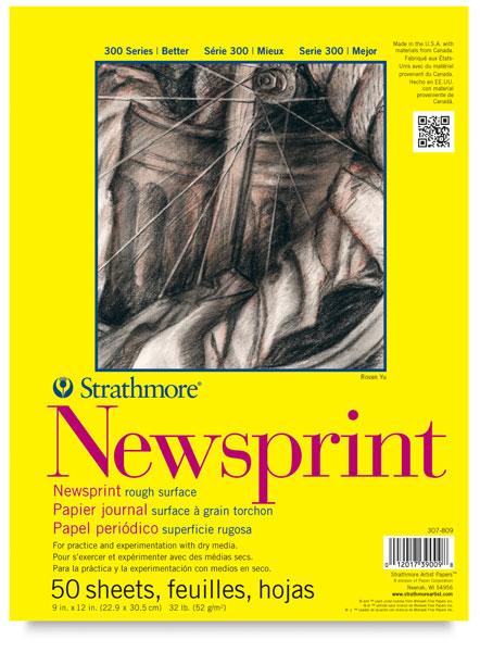 Newsprint Pad, 50 Sheets<br>Rough