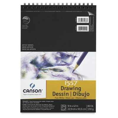 Pure White Drawing Pad, 24 Sheets