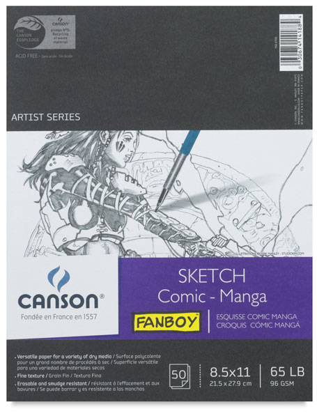 Comic-Manga Sketch Book, 80 sheets