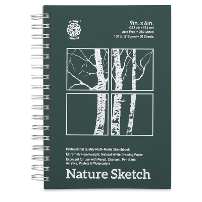 "Nature Sketch Book, 9"" x 6"", 50 Sheet"