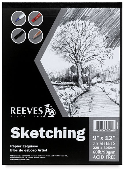 Reeves Sketching Pad, 75 Sheets