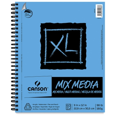 Mix Media Pad, Wirebound Side
