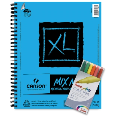 Mixed Media Pad w/<strong>FREE</strong>Pentel Color Pens Set