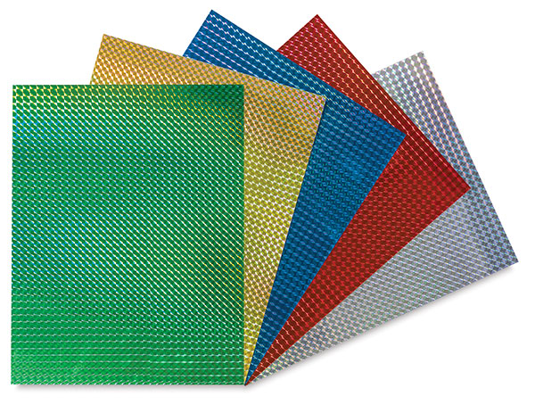 Mosaic Holographic Self-Adhesive Paper