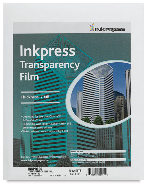 Inkpress Transparency Film, Pkg of 20