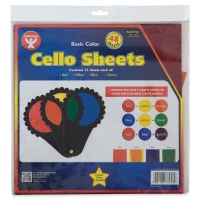 "Cello Sheets, Pkg of 4812"" × 12"""