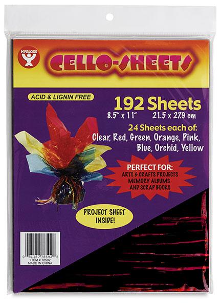 Cello Sheets, Pkg of 192