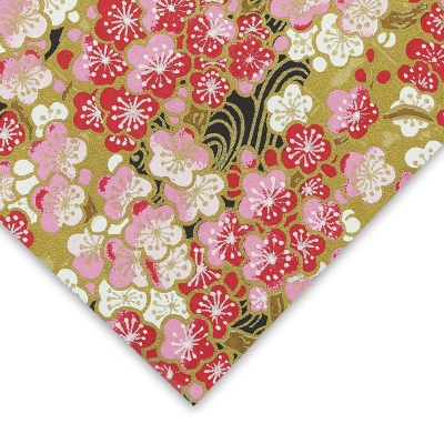 Flowers, Gold/Pink/White