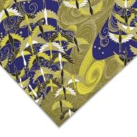 Cranes, Gold/Blue