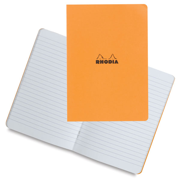 Lined Notebook, Orange