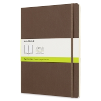 Soft Cover Notebook, X-Large, Earth Brown