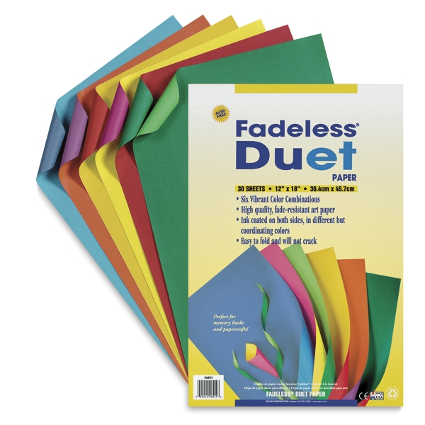 Duet Paper, Pkg Of 30 Sheets, In Assorted Colors  Colored Writing Paper