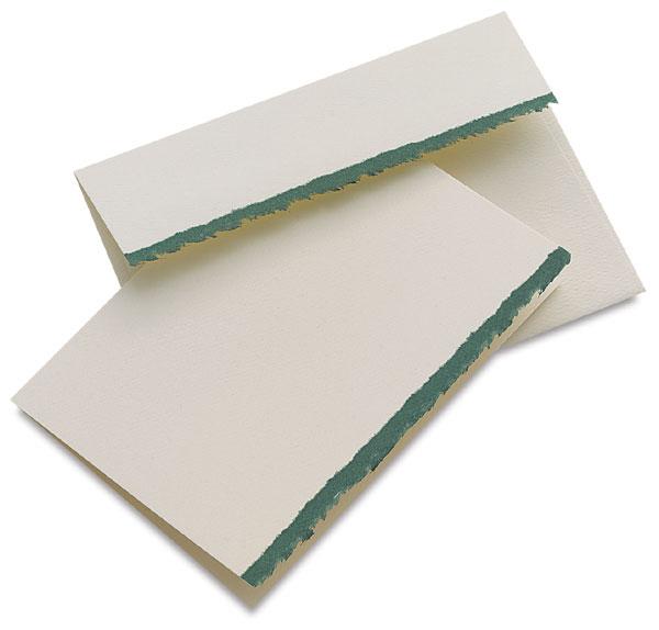 Announcement, Box of 10 (White/Emerald)