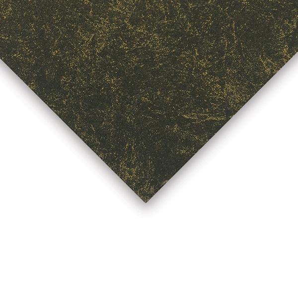 Crescent Decorative Faux Marble Matboard, Black Gold