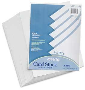 White, Pkg of 40 Sheets