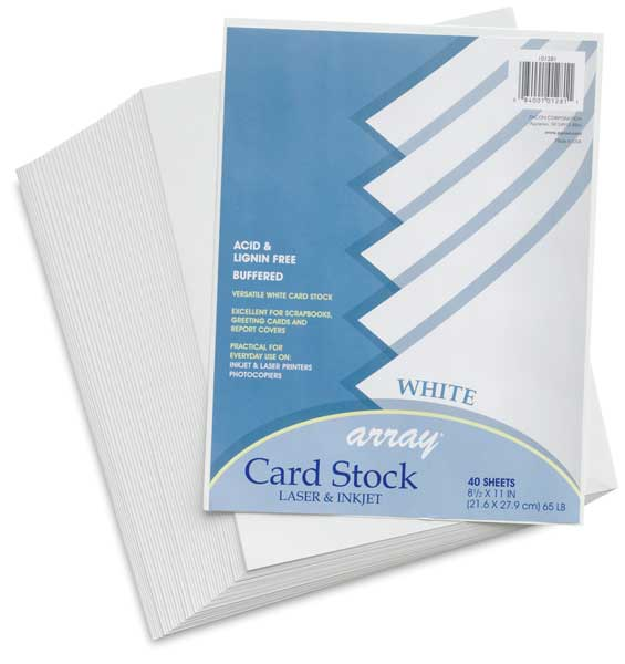 White, Pkg of 40 Sheets