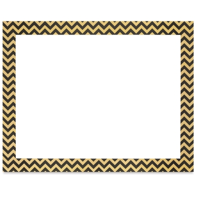 Ucreate Poster Board, Chevron Foil, Black and Gold