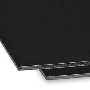 Foam Board, Black with Black Core