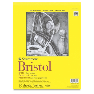 "Bristol Pad, Vellum<br>11"" x 14"""