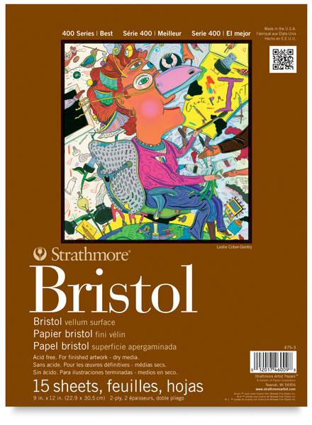 "Vellum Bristol Pad, 15 Sheets<br>9"" × 12"""