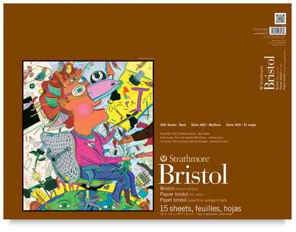 "Vellum Bristol Pad, 15 Sheets<br>18"" × 24"""