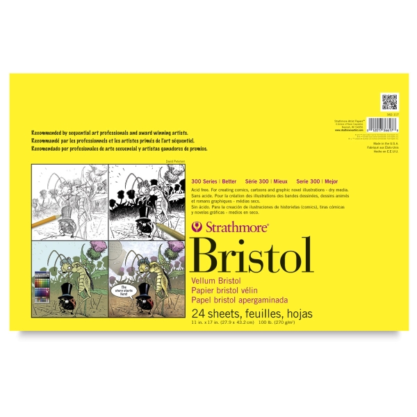 300 Series Bristol, 24 Sheet Pad