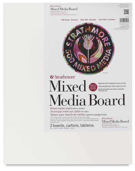 "500 Series Mixed Media Boards, Pkg of 2, 16"" × 20"""