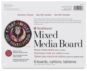 "500 Series Mixed Media Boards, Pkg of 6, 8"" × 10"""