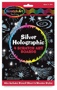 Scratch & Sparkle Glitter Board Stencil Kit