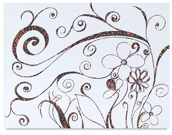 White Glitter Board