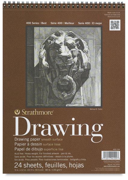 400 Series Smooth Surface Drawing Pad, 24 Sheets