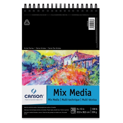 Wirebound Mix Media Pad, 20 Sheets