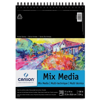 Wirebound Mix Media Pad, 20 Sheets