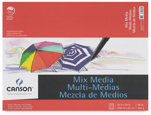 "Mix Media Pad, 20 Sheets, 18"" × 24"""