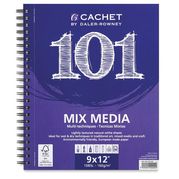 101 Mix Media Pad, White Pad