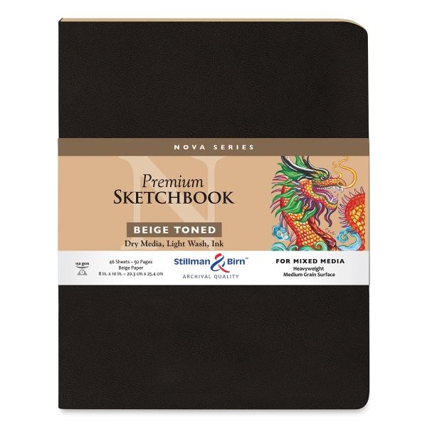Nova Mixed Media Sketchbook, Beige