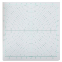 Circular Grid Sketchbook, 30 Sheets/60 Pages