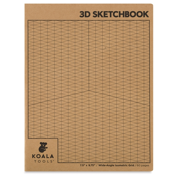 Wide-Angle Isometric Grid Sketchbook, 30 Sheets/60 Pages