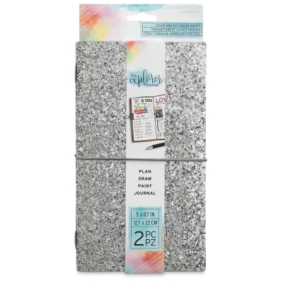 Silver Chunky Glitter Journal